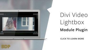 Divi Video Lightbox Plugin