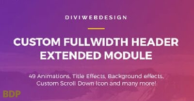 Fullwidth Header Extended Plugin
