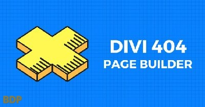 Divi 404 Page Builder Plugin