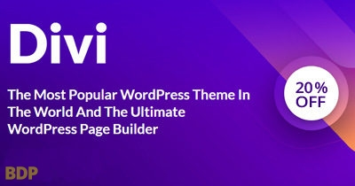 Divi Theme 20 Percent Off