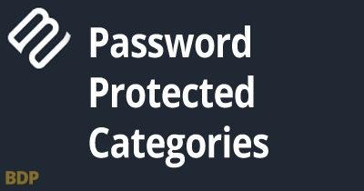 Password Protected Categories Plugin