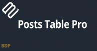 Posts Table Pro Plugin
