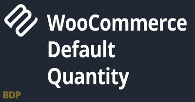 Woocommerce Default Quantity Plugin